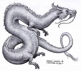Eastern dragon - Inktober 20/2018 by BrokenMachine86