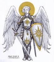 Archangel - Inktober 24/2018 by BrokenMachine86