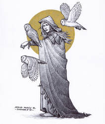 Female druid - Inktober 30/2018 by BrokenMachine86
