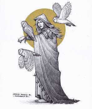 Female druid - Inktober 30/2018