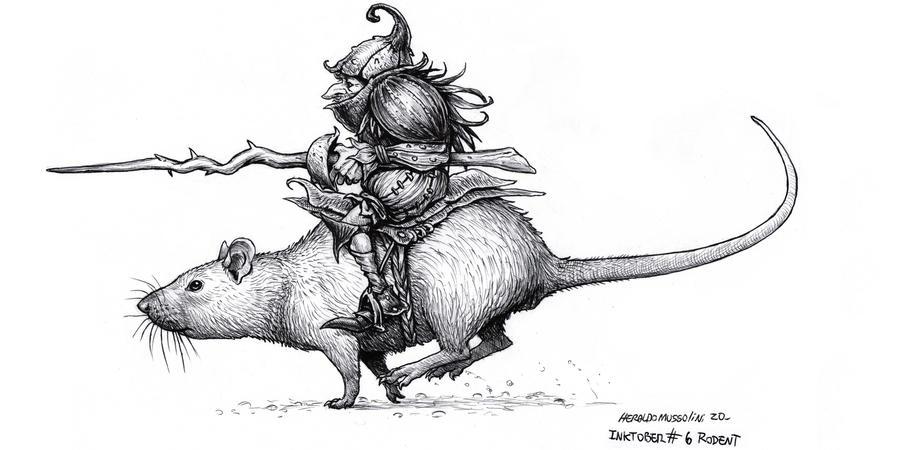 Rodent rider- Inktober 6 2020