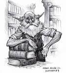 Gnome librarian - Inktober 9 2020