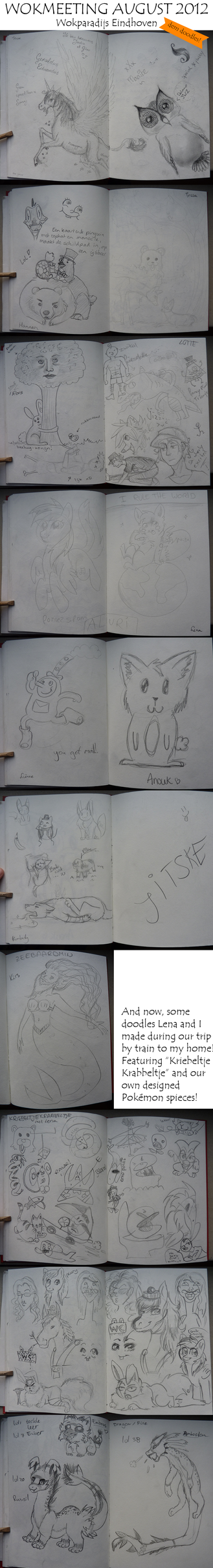 Wokmeeting August 2012 Doodles! by Kiruel