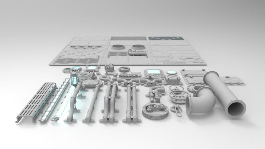 modular greeble by demigogos