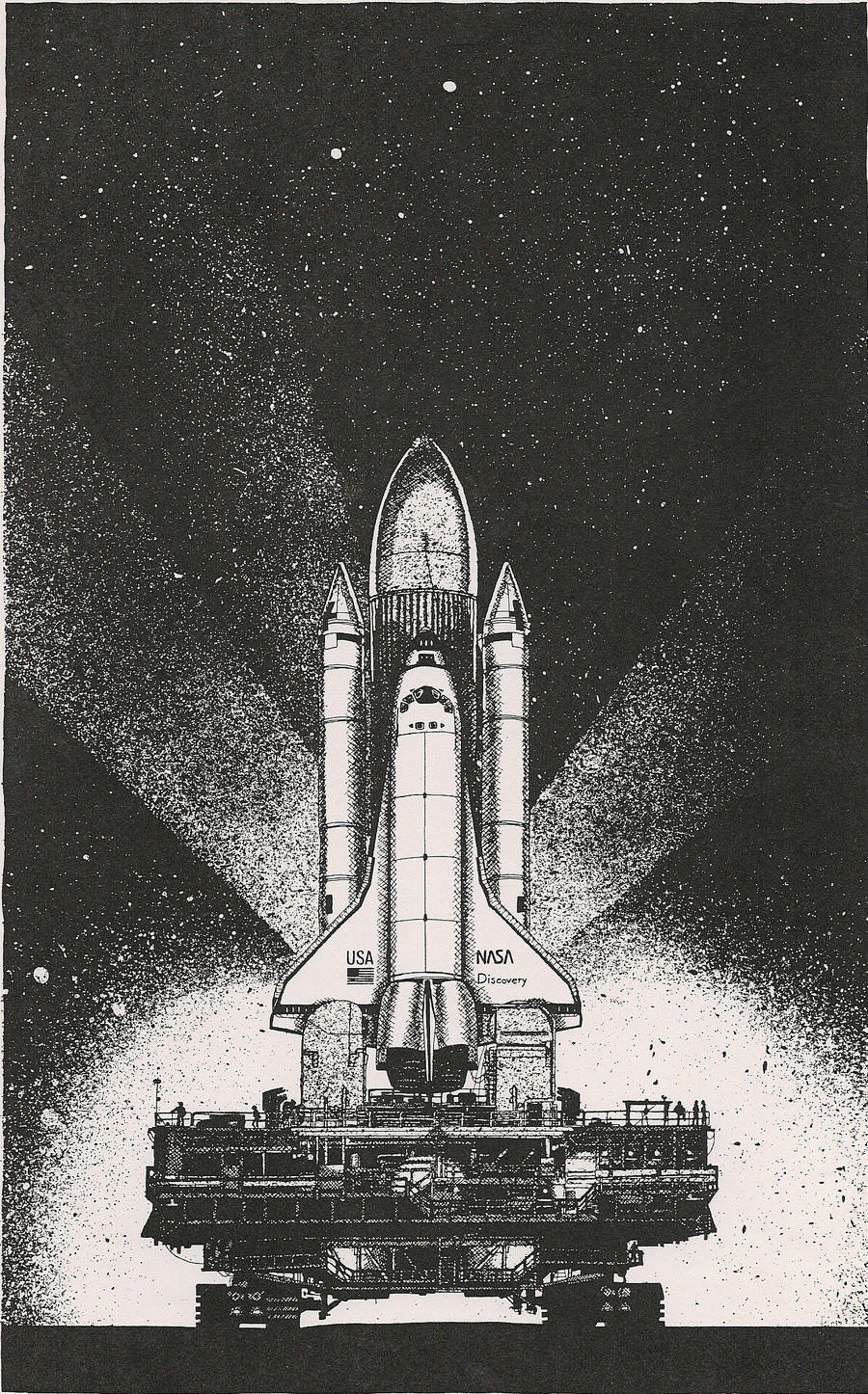 Space Shuttle Going to the Pad by RamageArt