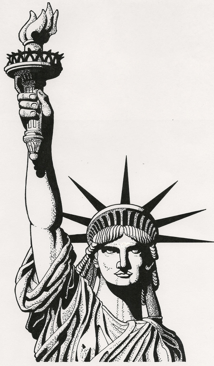 Statue of Liberty by RamageArt on DeviantArt Statue Of Liberty Drawing Face