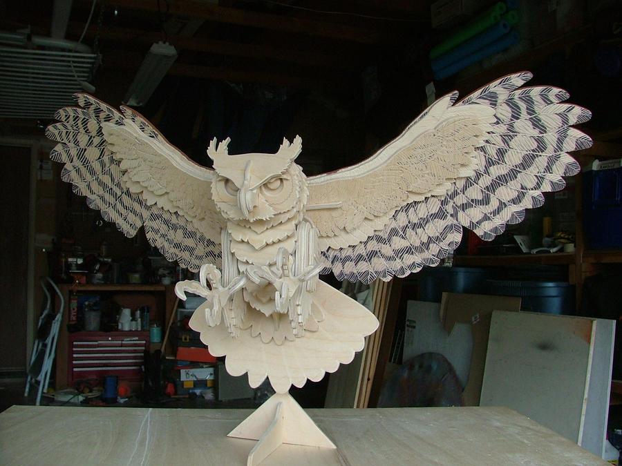 Great Horned Owl, Sneek Peek by RamageArt