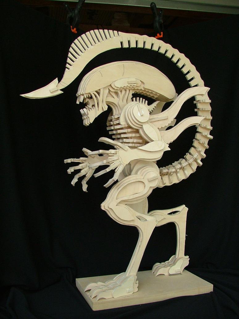 Alien (No Glue) by RamageArt