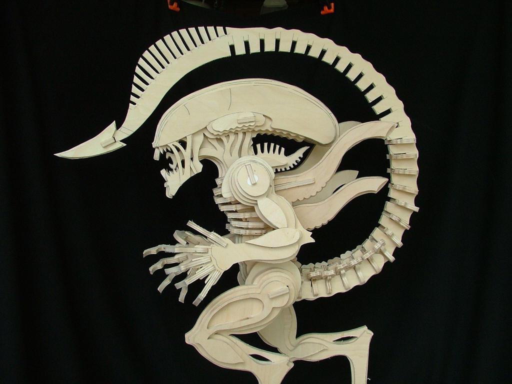 Alien (No Glue) 2 by RamageArt