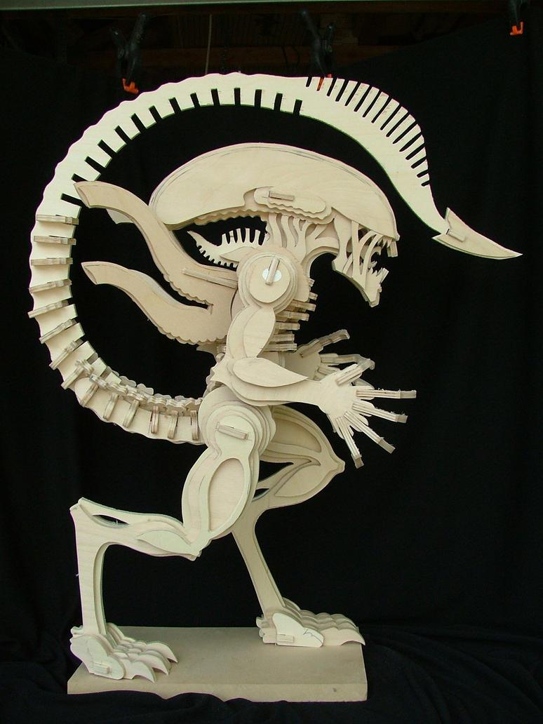 Alien (No Glue) 3 by RamageArt