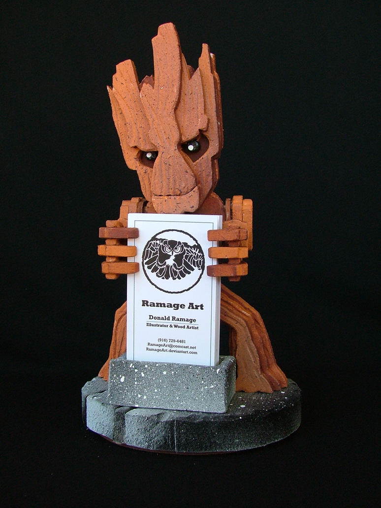 Groot Business Card Holder 2 by RamageArt