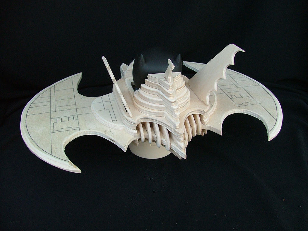 BatWing For Pop BatMan (Wood, Unfinished) by RamageArt
