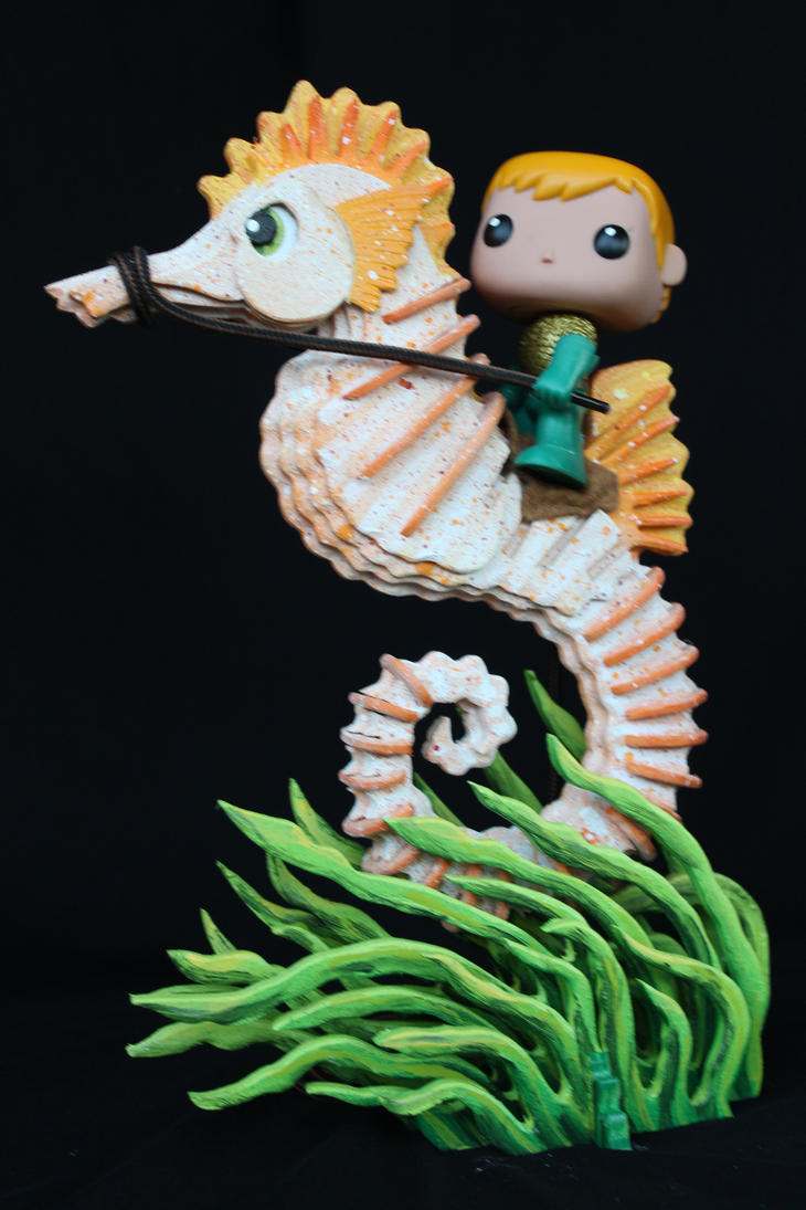 POP AquaMan and his trusty SeaHorse Storm by RamageArt