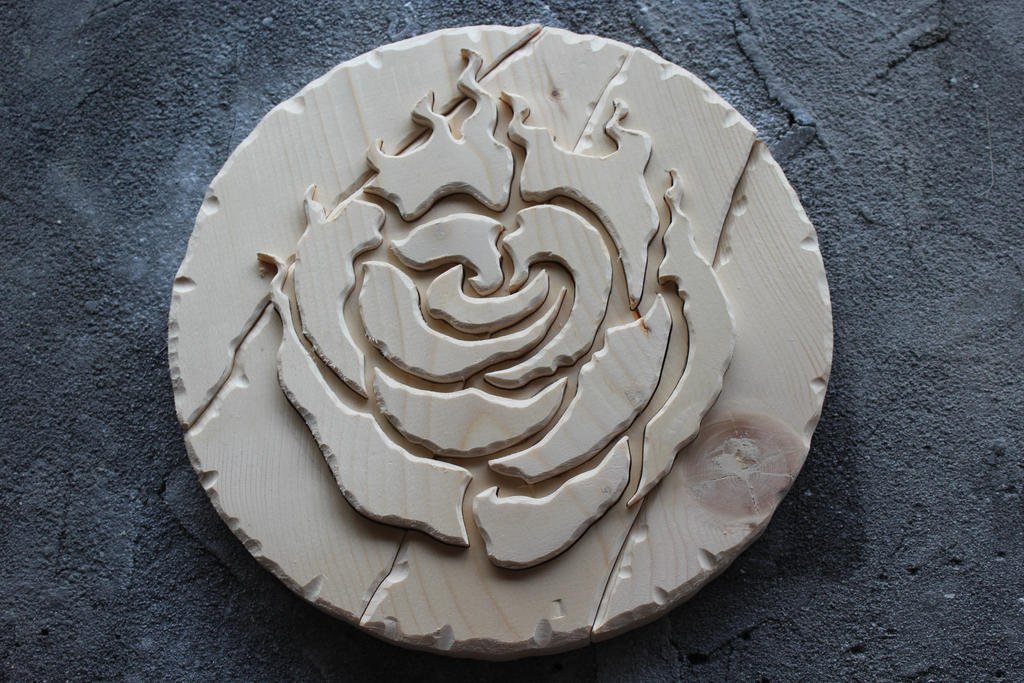 RWBY's Rose Insignia (Unfinished) by RamageArt