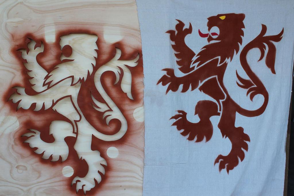 Heraldry Lion Banner by RamageArt