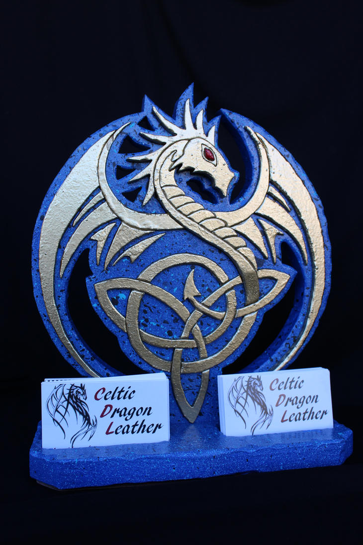 Celtic Dragon Business Card Holder by RamageArt