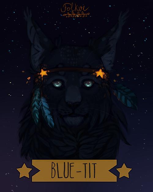 Blue-Tit by Folkwe