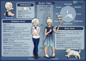 One Piece OC Profile: Halley Taika by Klexenia