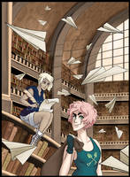 collab with fyurama (or: how to loot a library) by Klexenia