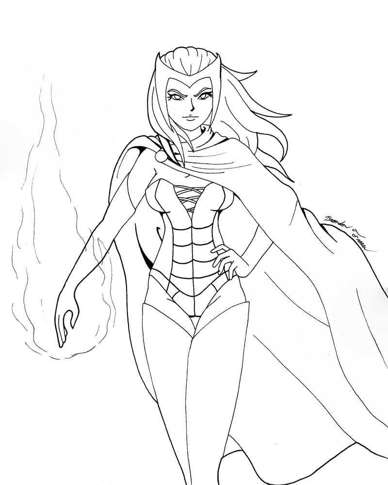 enchantress marvel coloring pages - photo#12