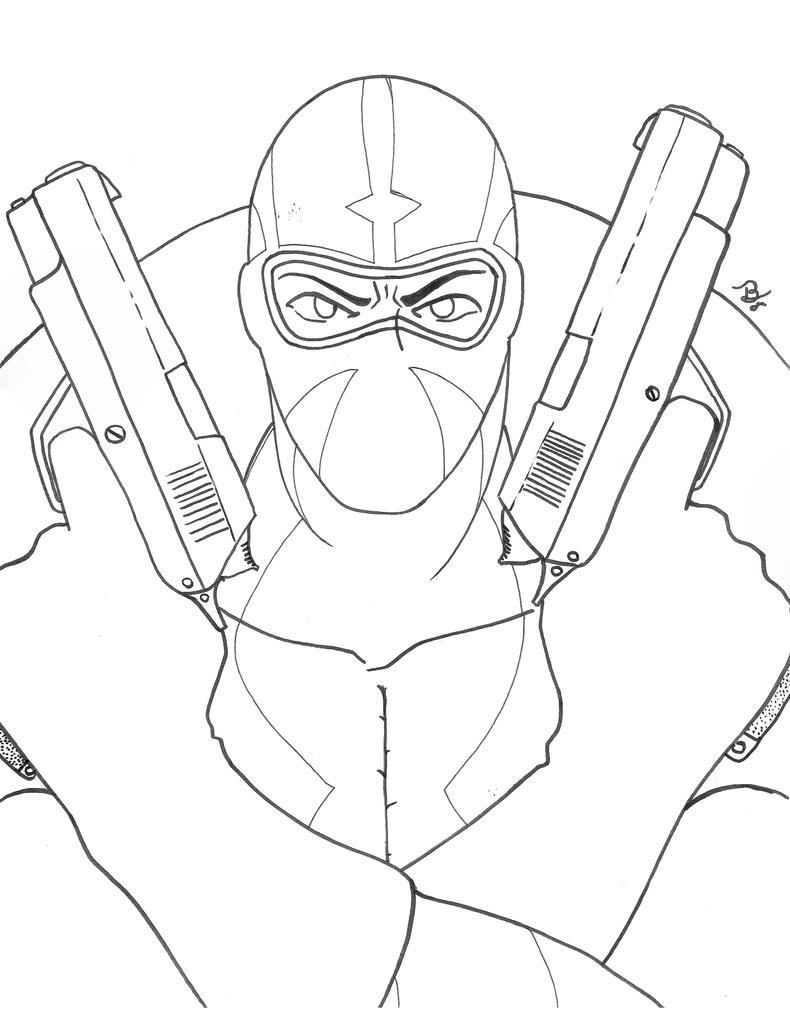 Line Art Marvel : Fantomex line art by tedbob on deviantart