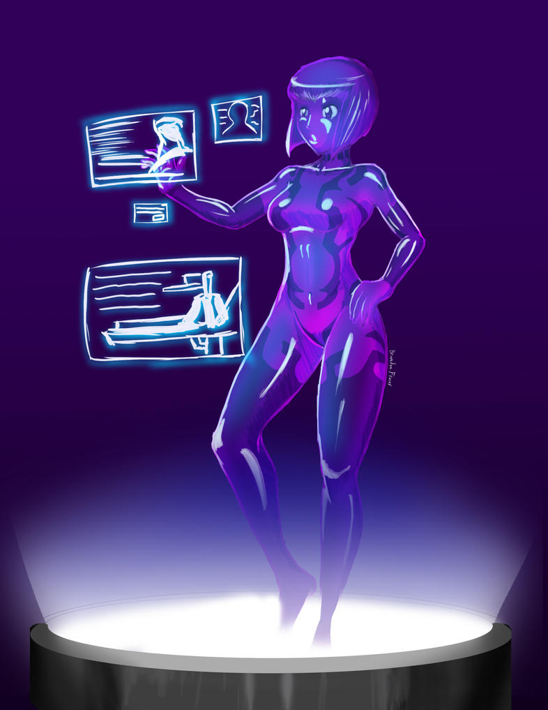 Cortana WIP by Tedbob