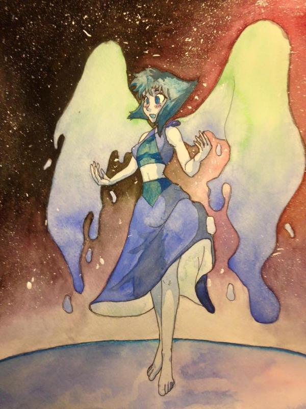 Lapis Lazuli watercolor by Tedbob