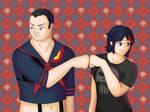 Frank Castle and Ryuko Matoi: Respect