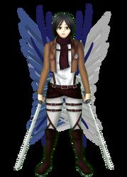 Mikasa Ackerman: Attack on Titan by poisonedlava