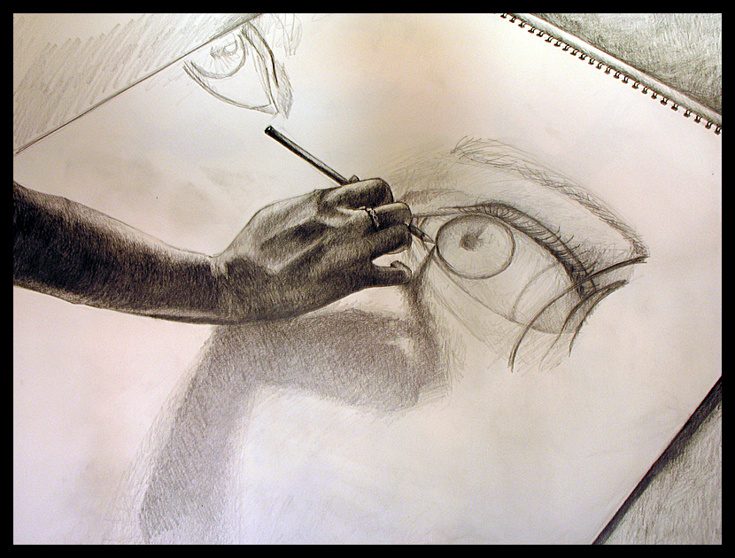 My Arm Drawing My Face by thefeedingend on DeviantArt