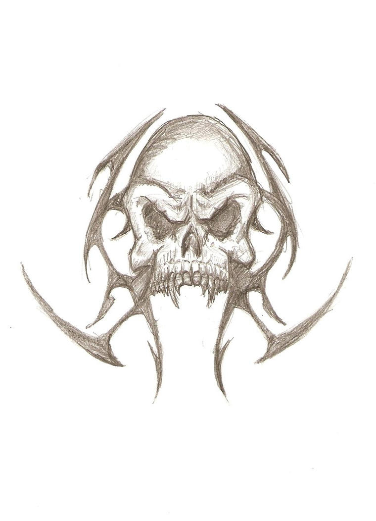 Vampire skull tattoo design by drgknot on deviantart for Vampire skull tattoo