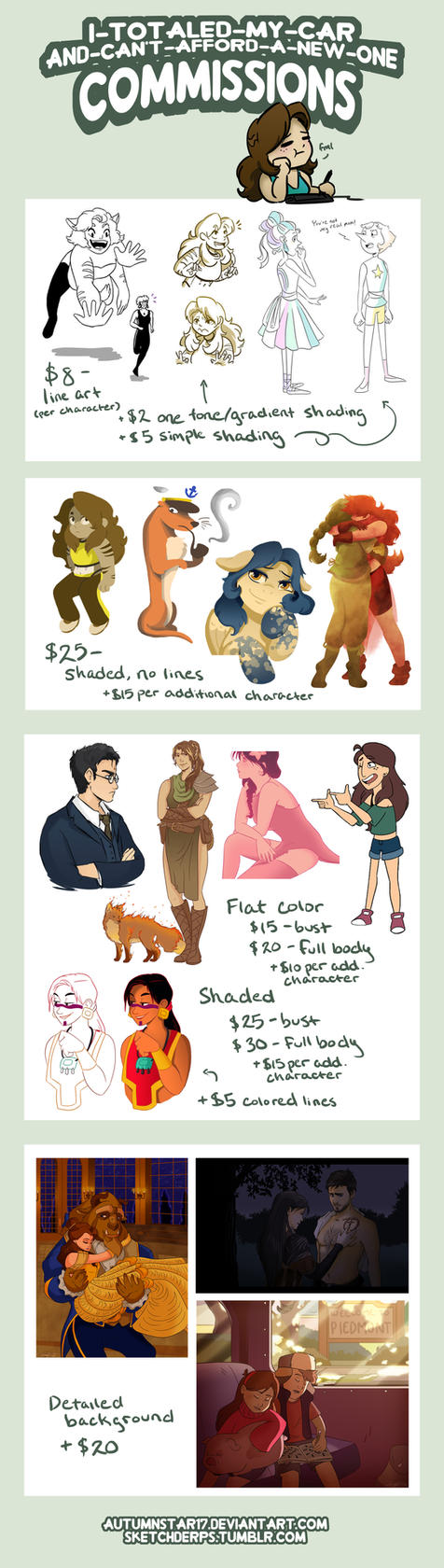 Commissions by Sketchderps