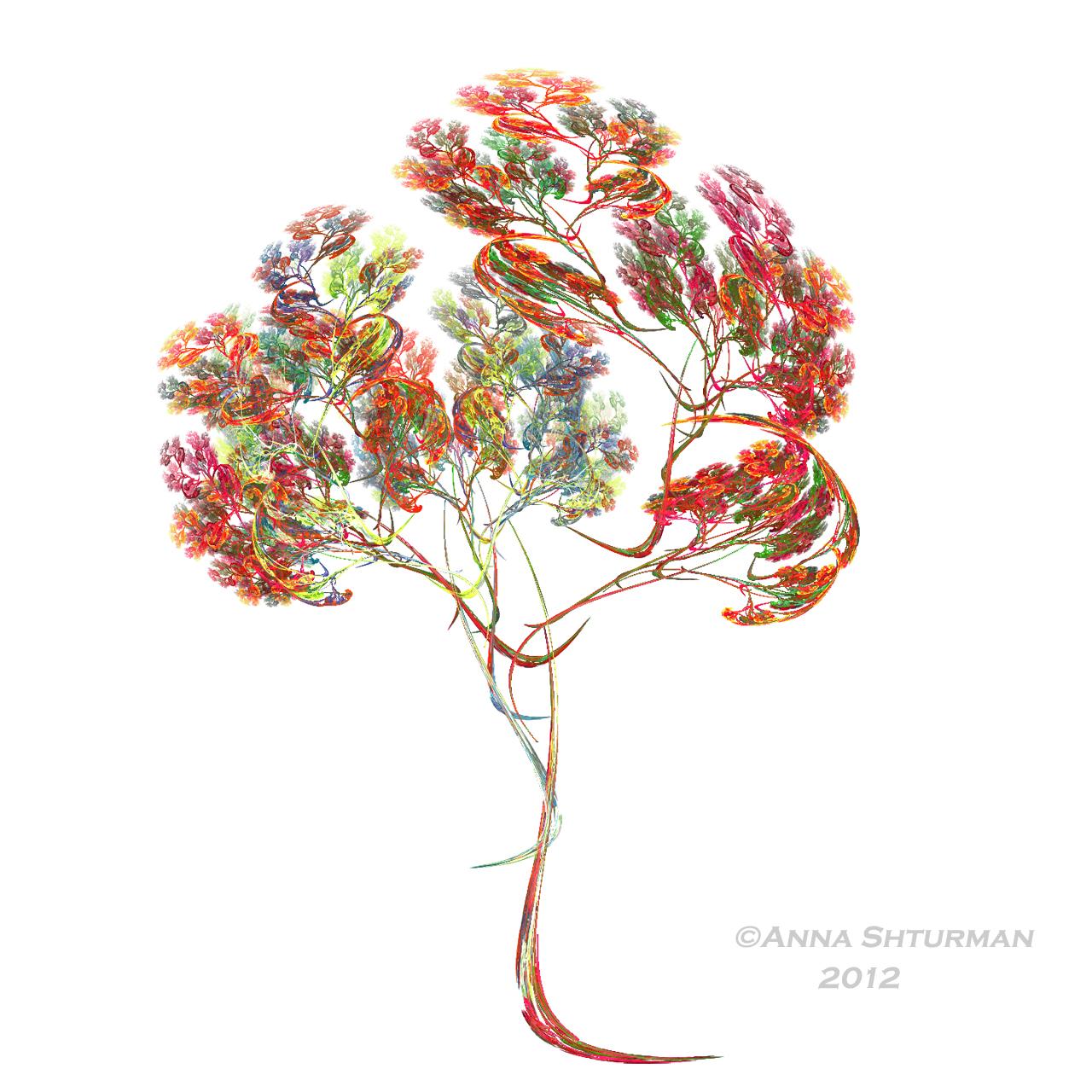 fractal tree 15 - rainbow by Alvenka