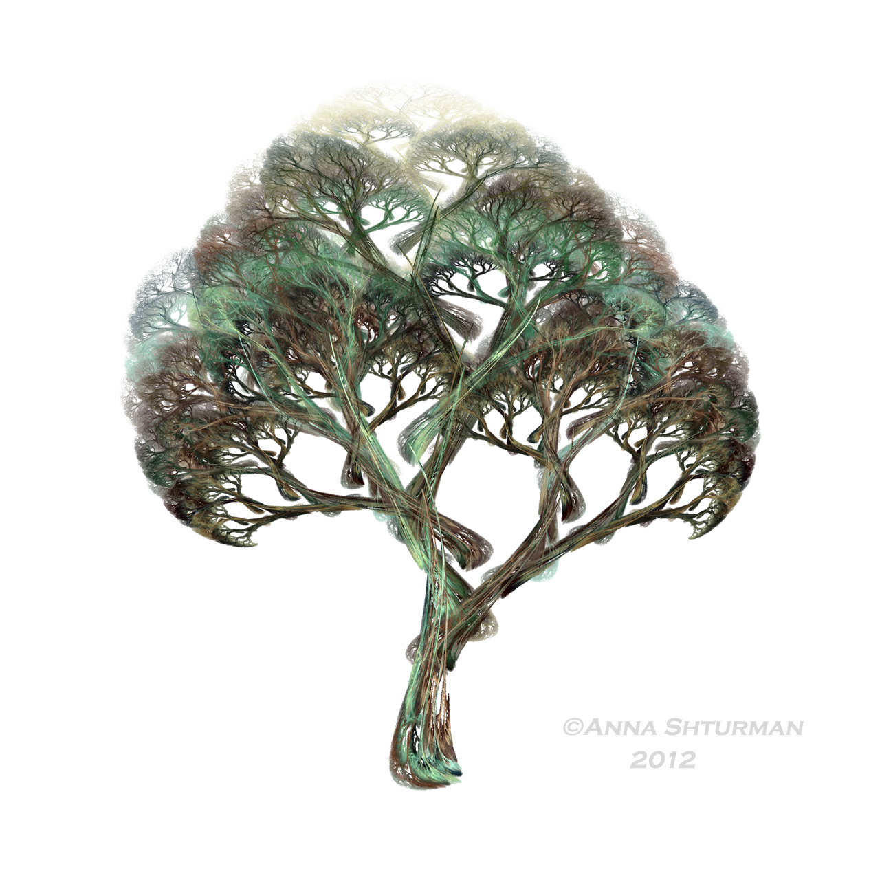 fractal tree 18 - awake tree by Alvenka