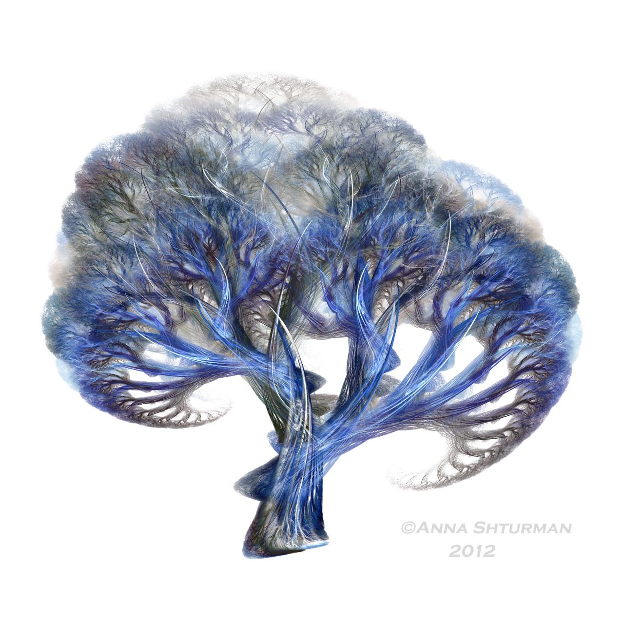 fractal tree 20 - blue by Alvenka