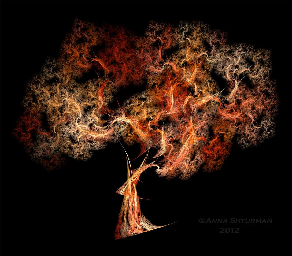 Flames Tree by Alvenka