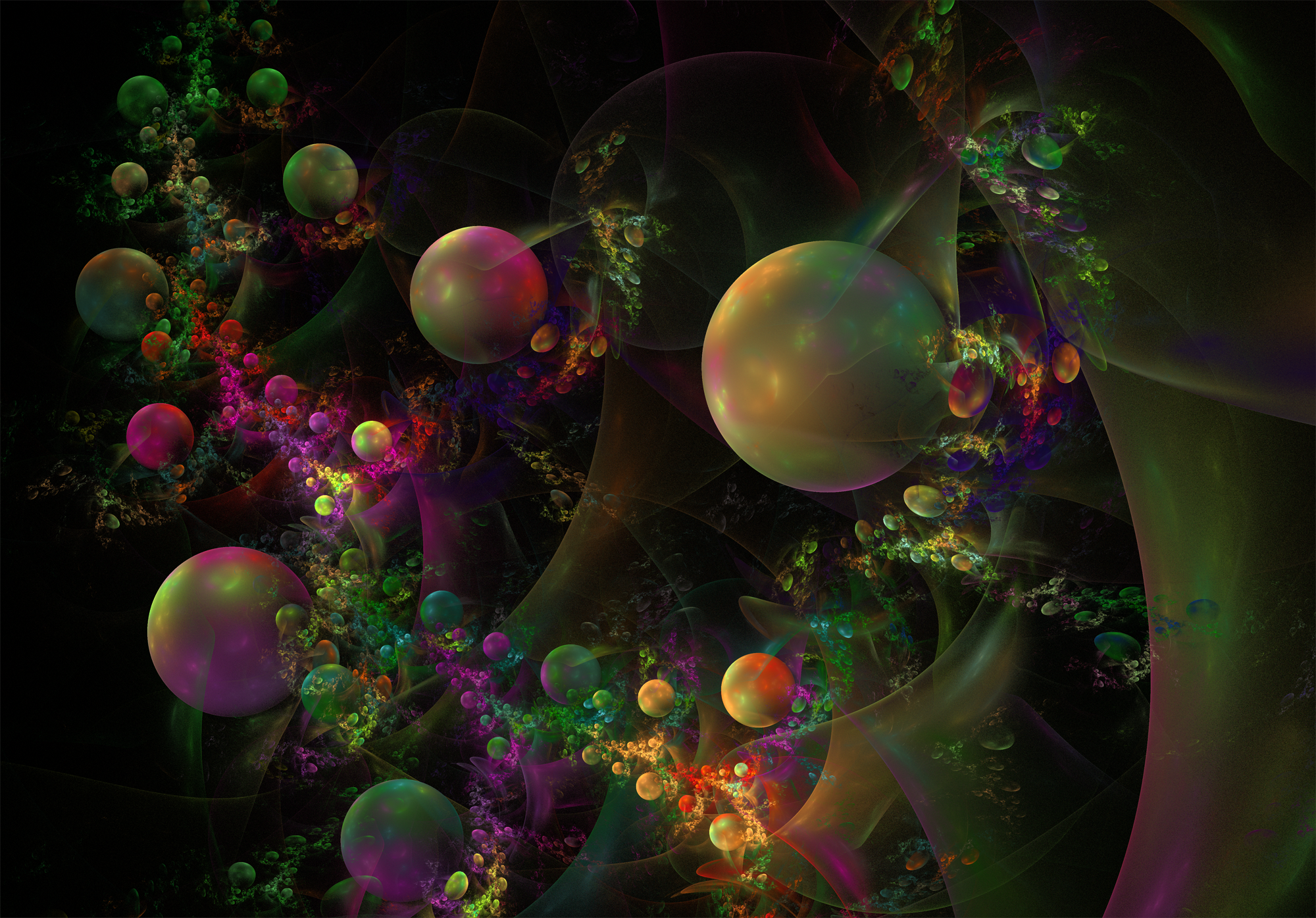 Growing  Bubbles. by Alvenka