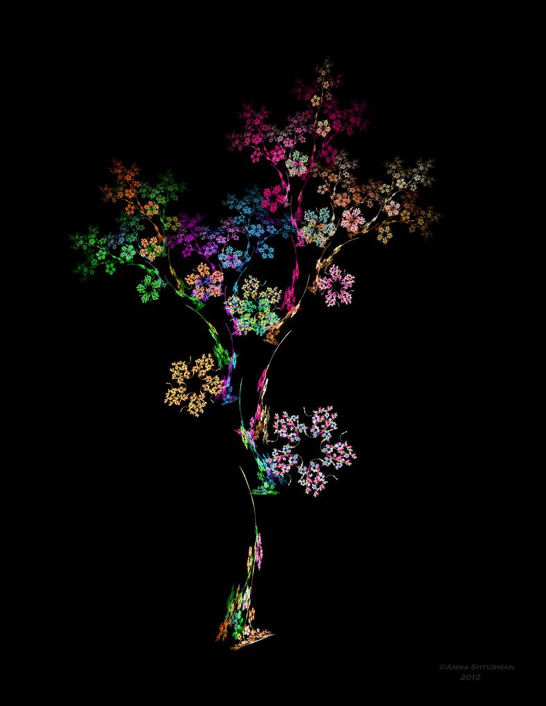 Blossoming Tree by Alvenka