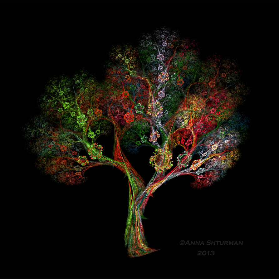 fractal tree 40 by Alvenka