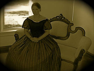 Wearing my Civil War Ballgown