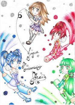 4 couloured chibi