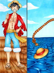 :COMM: Luffy Bookmark