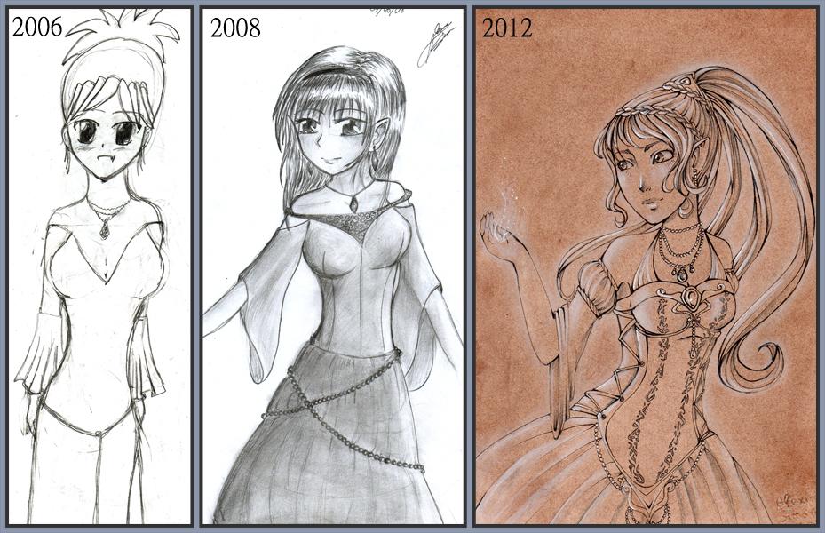 Ancien VS nouveaux dessins - Page 5 Evolution_by_lexou_chan-d5uwu8t
