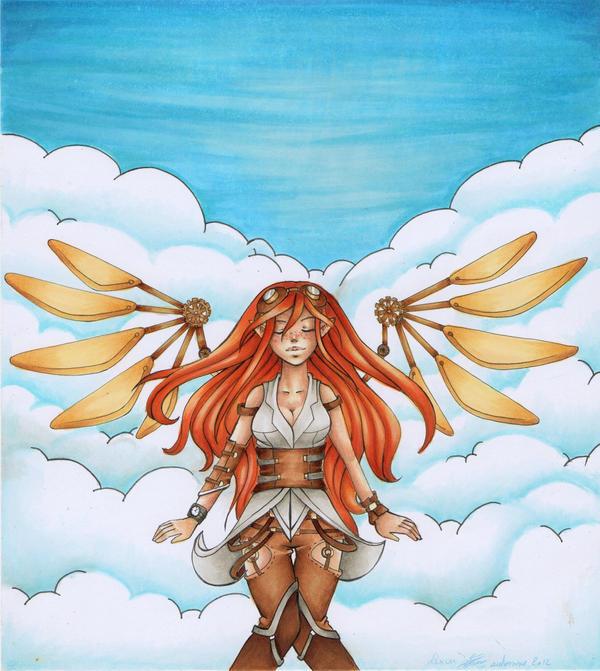 Steampunk angel by Lexou-chan