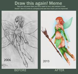 Draw this again Meme : Little fairy