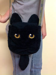 Realistic eyes Black Wolf bag by forensicfox