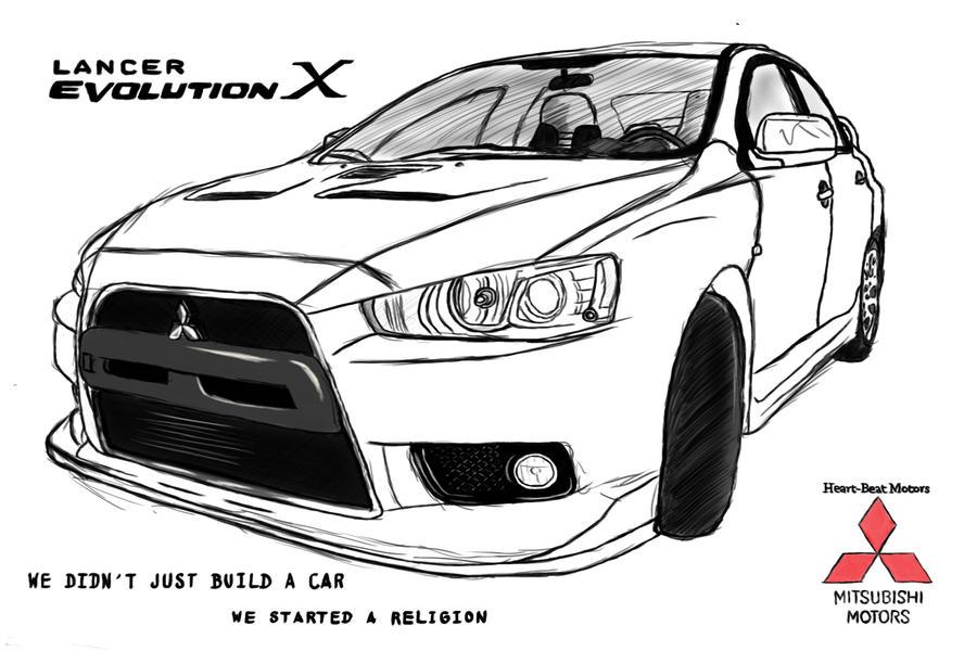 mitsubishi car drawing coloring pages 3508x2480 mitsubishi lancer evolution