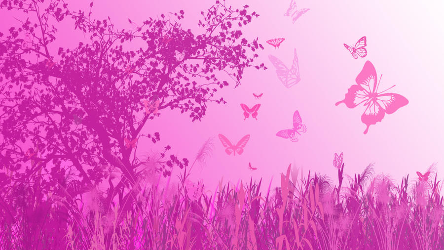 Pink Butterfly Wallpaper HD By Aibu Maria