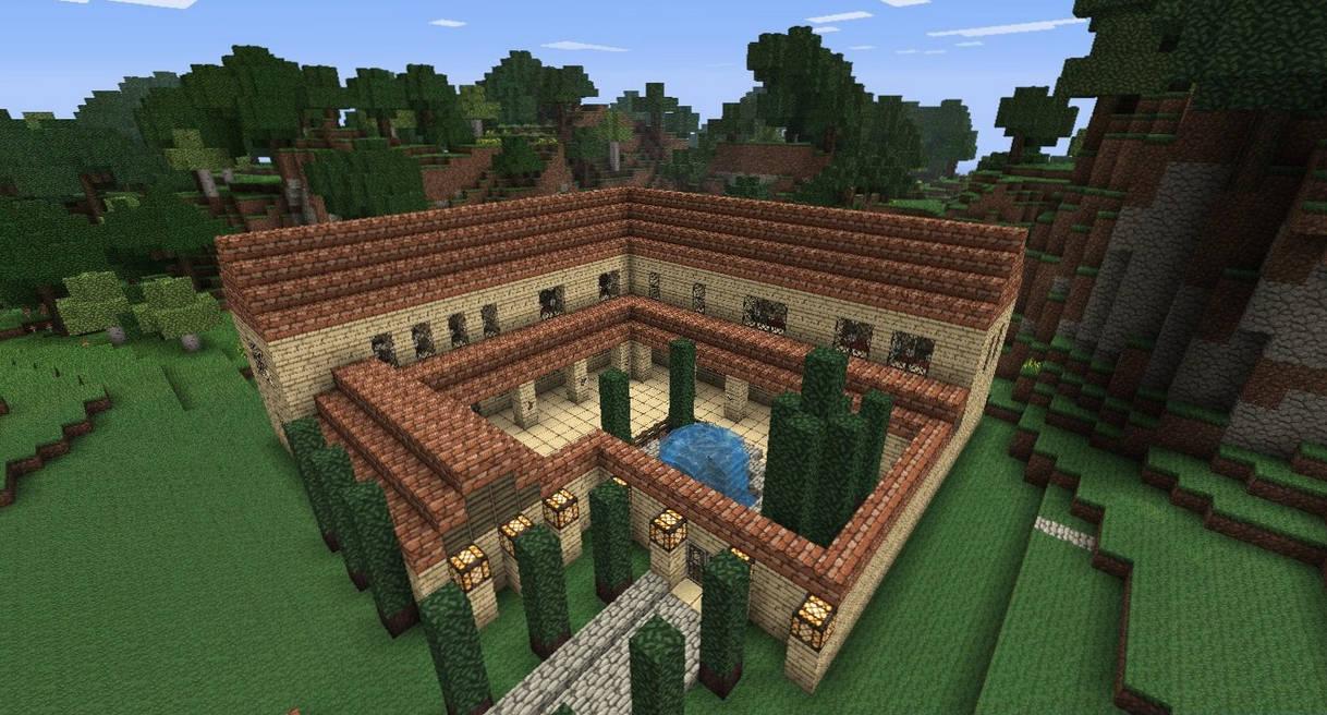 Minecraft Roman Villa by NiegelvonWolf