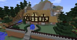 Minecraft Tudor Mansion by NiegelvonWolf